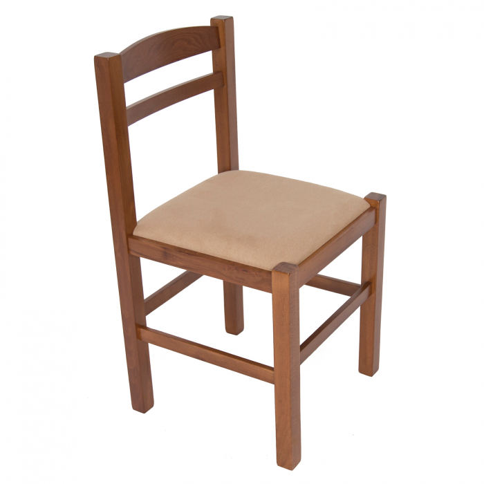Scaun din lemn Pisa tapitat nuc [0]