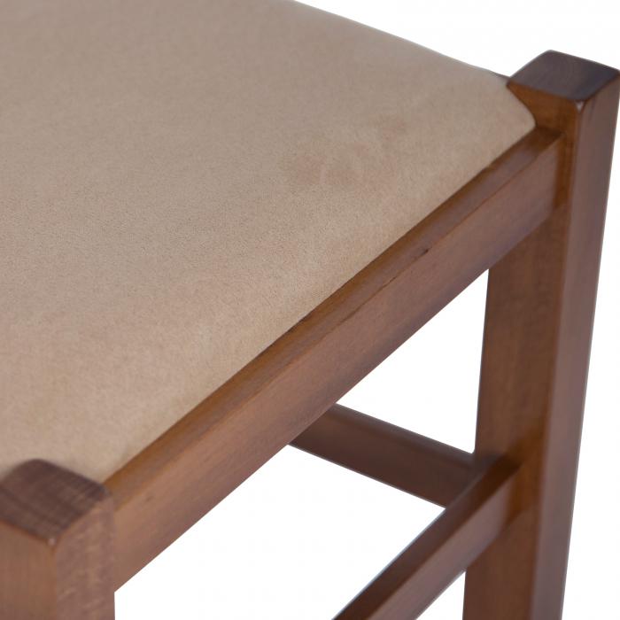 Scaun din lemn Pisa tapitat nuc [8]