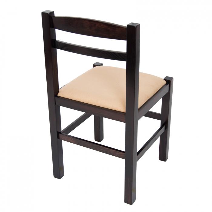 Scaun din lemn Pisa tapitat wenge [2]