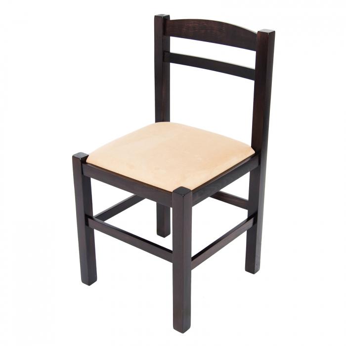Scaun din lemn Pisa tapitat wenge [6]