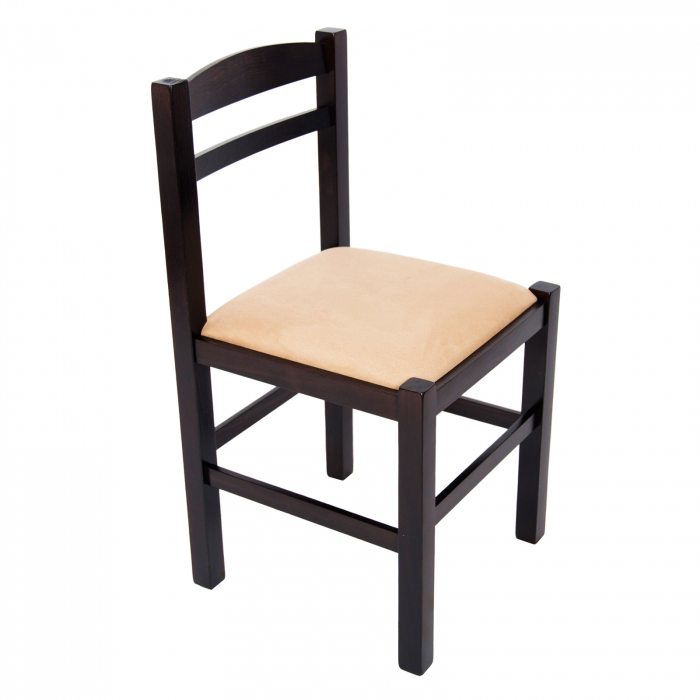 Scaun din lemn Pisa tapitat wenge [0]