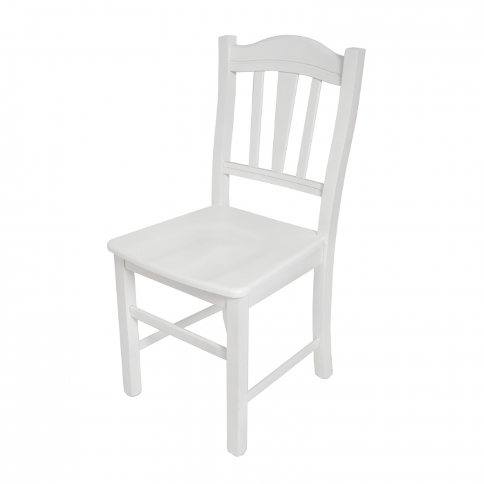 Scaun din lemn Silvana masiv alb [4]