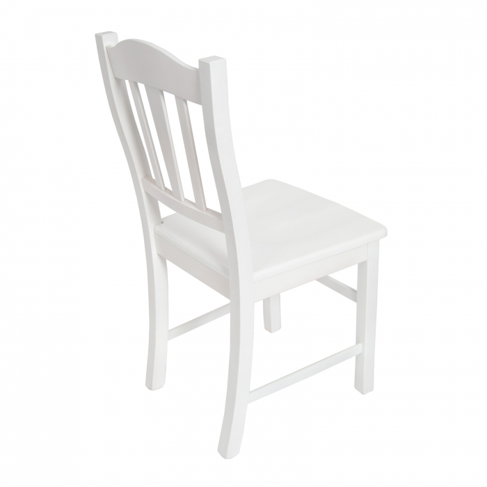 Scaun din lemn Silvana masiv alb [2]