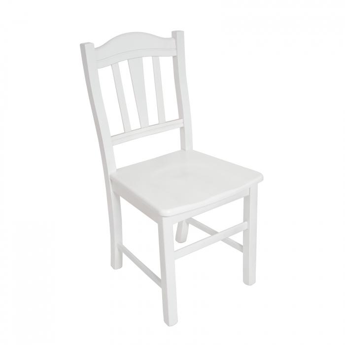 Scaun din lemn Silvana masiv alb [0]
