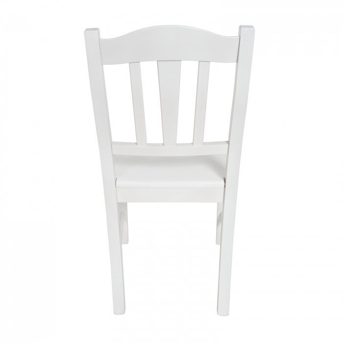 Scaun din lemn Silvana masiv alb [3]