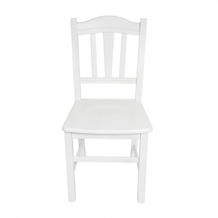 Scaun din lemn Silvana masiv alb [5]
