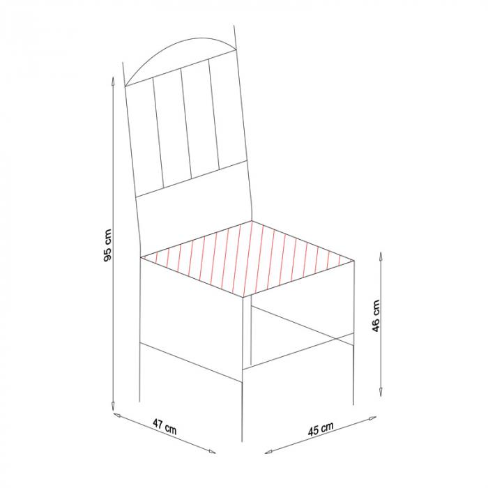 Scaun din lemn Silvana masiv alb [6]