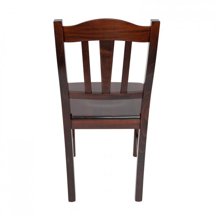 Scaun din lemn Silvana masiv nuc ciocolata [2]