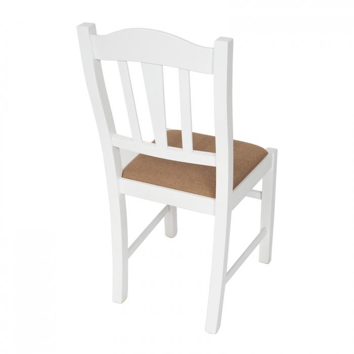 Scaun din lemn Silvana tapitat alb [1]