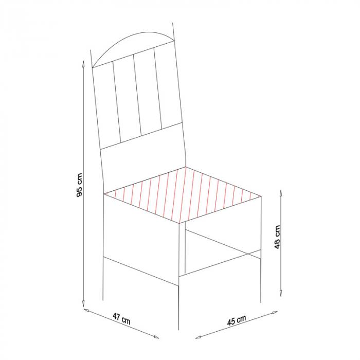 Scaun din lemn Silvana tapitat alb [3]