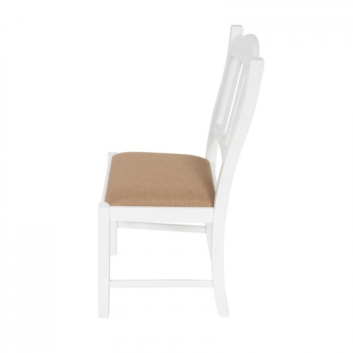 Scaun din lemn Silvana tapitat alb [2]