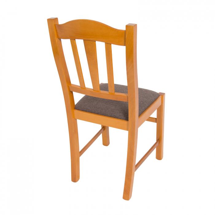 Scaun din lemn Silvana tapitat cires [2]