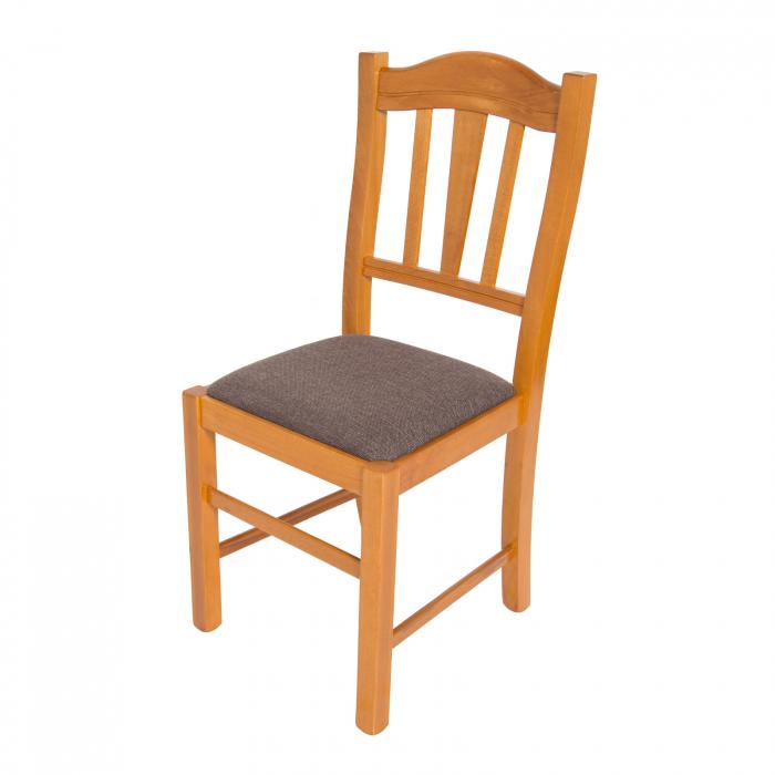 Scaun din lemn Silvana tapitat cires [5]