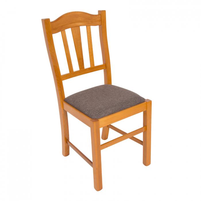 Scaun din lemn Silvana tapitat cires [0]