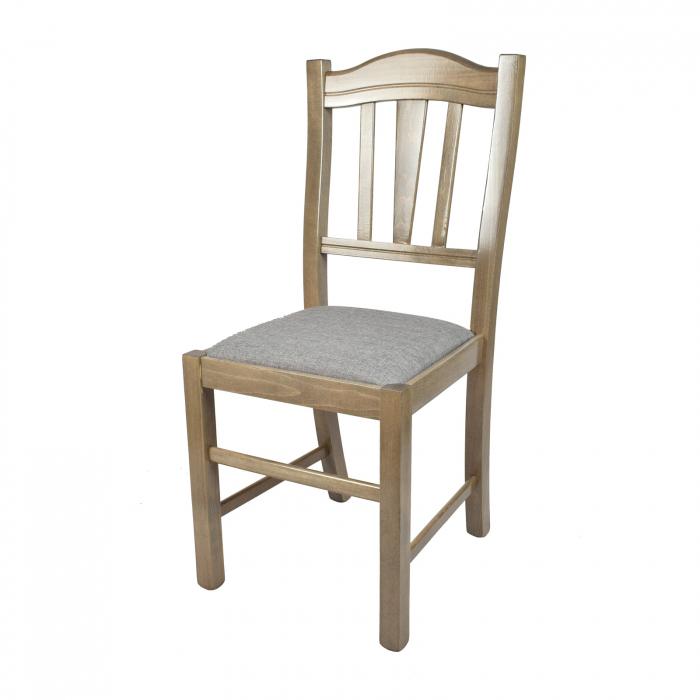 Scaun din lemn Silvana tapitat maro-trufa [0]