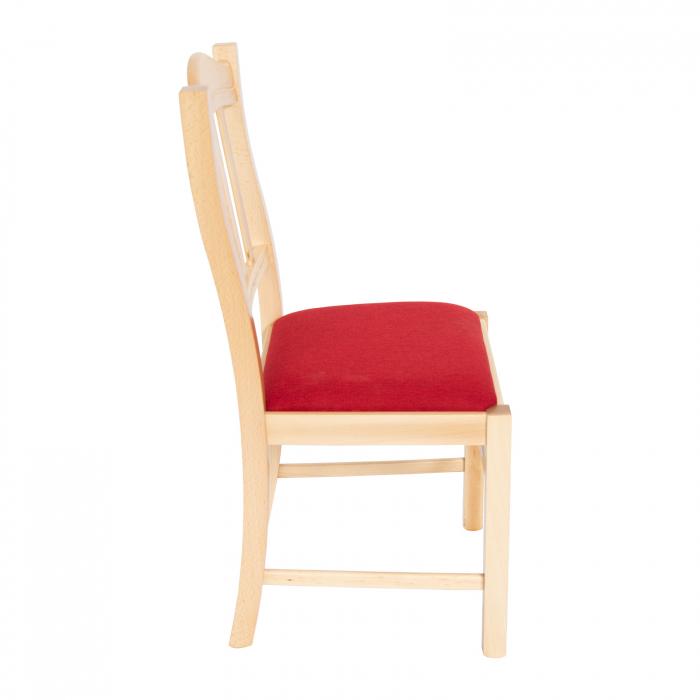 Scaun din lemn Silvana tapitat natur [1]
