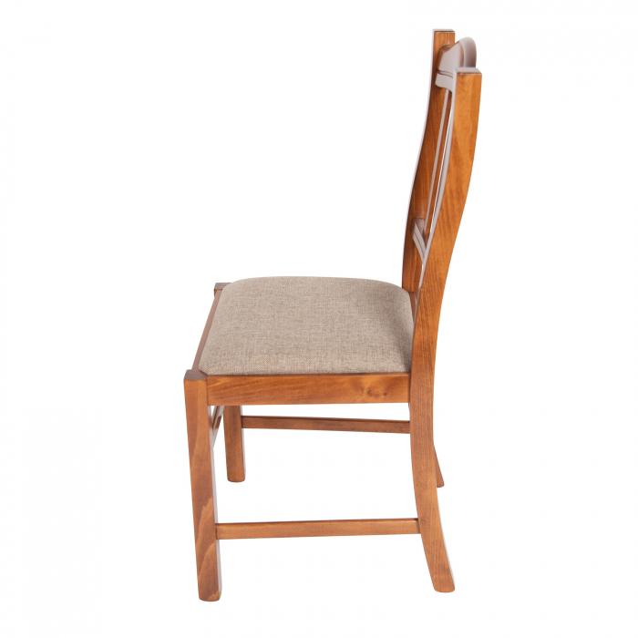 Scaun din lemn Silvana tapitat nuc [5]