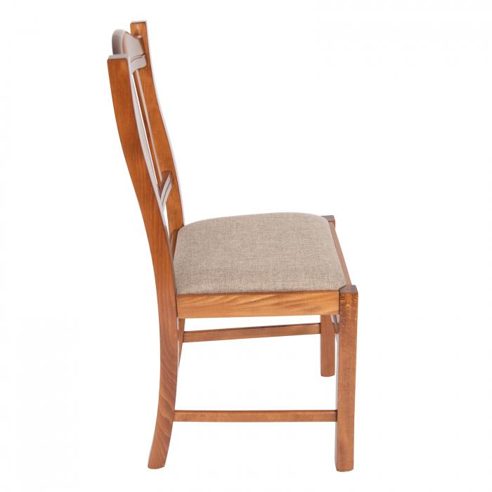 Scaun din lemn Silvana tapitat nuc [1]