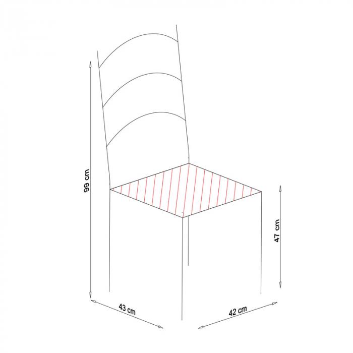 Scaun din lemn Sonya Modern masiv alb [4]