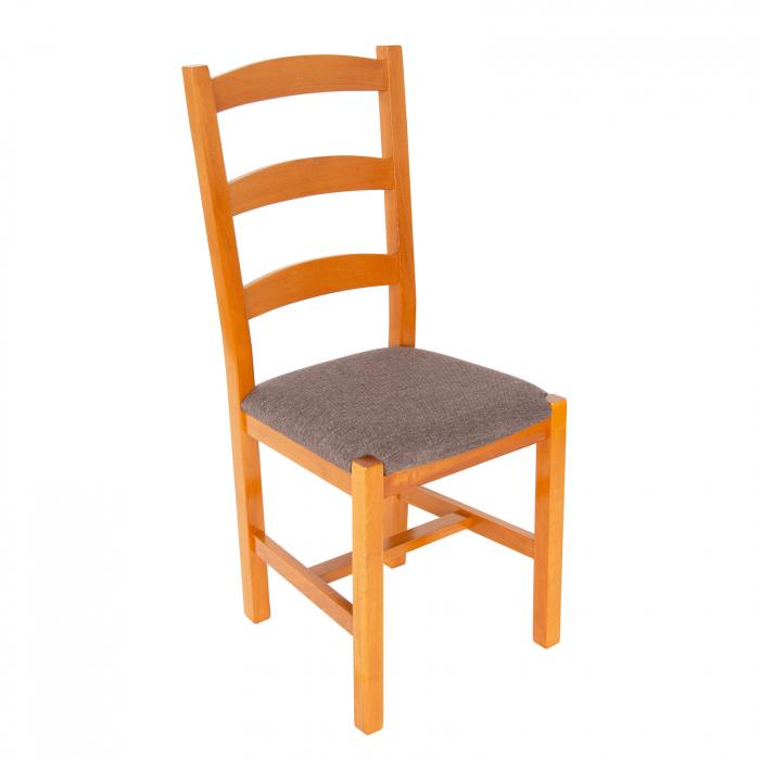 Scaun din lemn Sonya Modern tapitat cires [0]