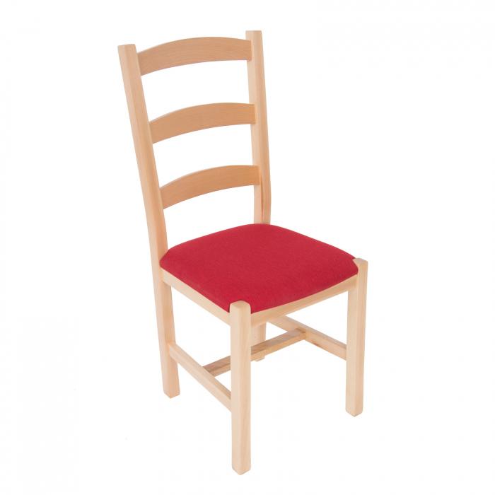 Scaun din lemn Sonya Modern tapitat natur [0]