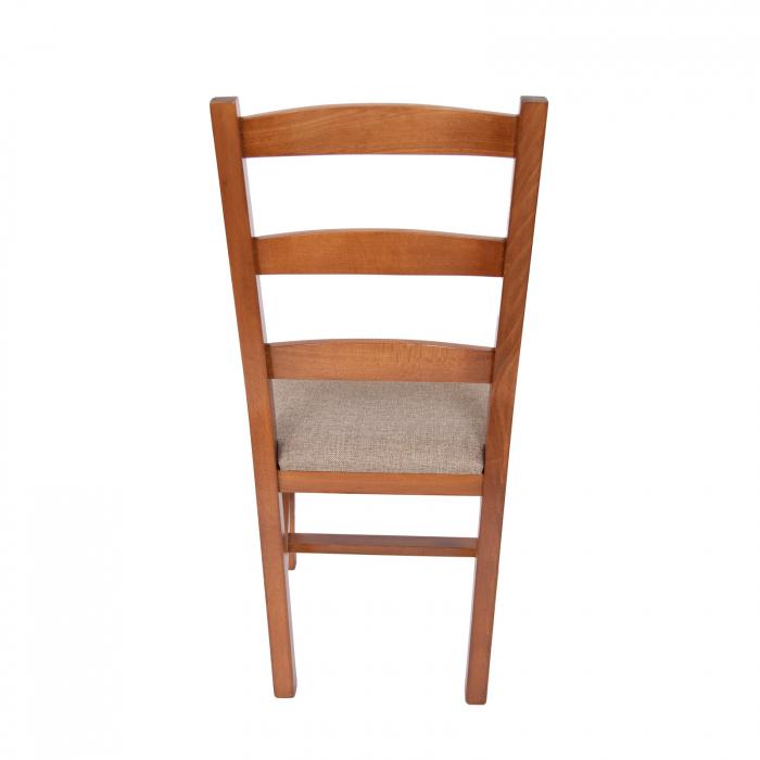 Scaun din lemn Sonya Modern tapitat nuc [3]