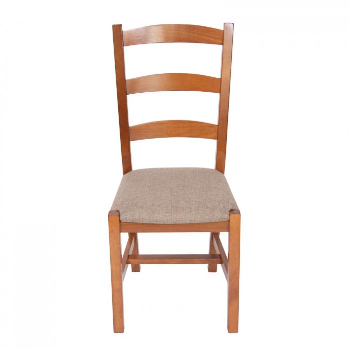 Scaun din lemn Sonya Modern tapitat nuc [4]