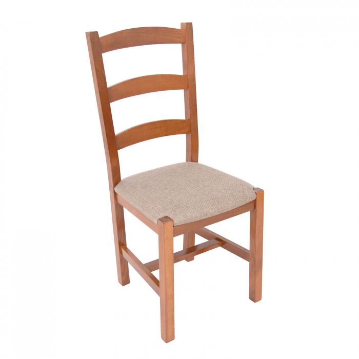 Scaun din lemn Sonya Modern tapitat nuc [0]
