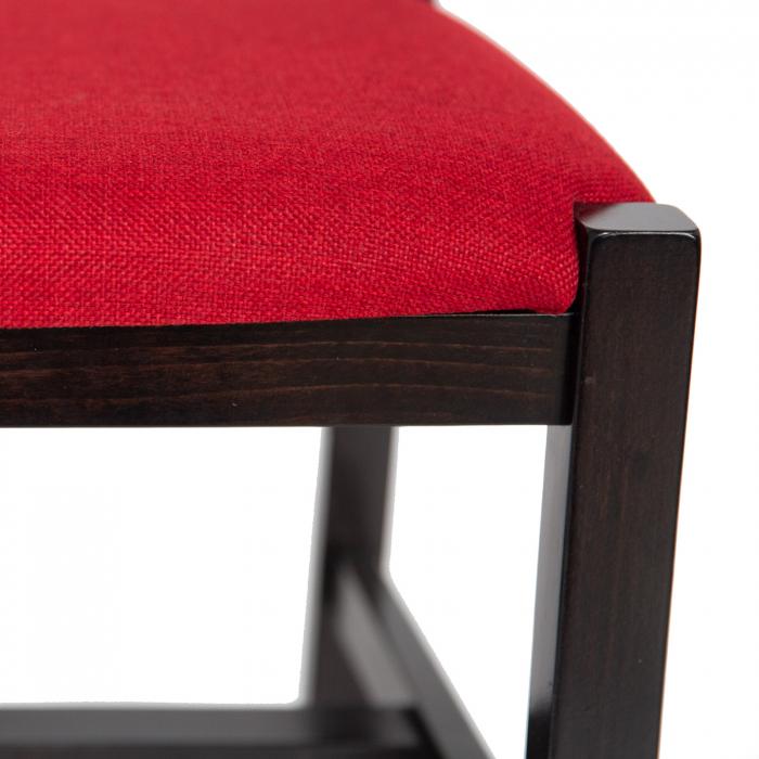 Scaun din lemn Sonya Modern tapitat wenge [5]