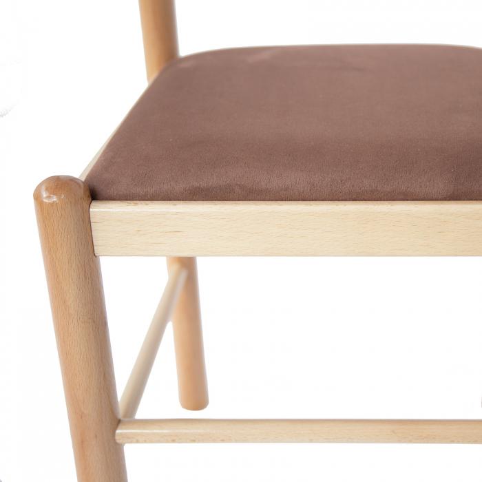 Scaun din lemn Toronto tapitat natur [5]