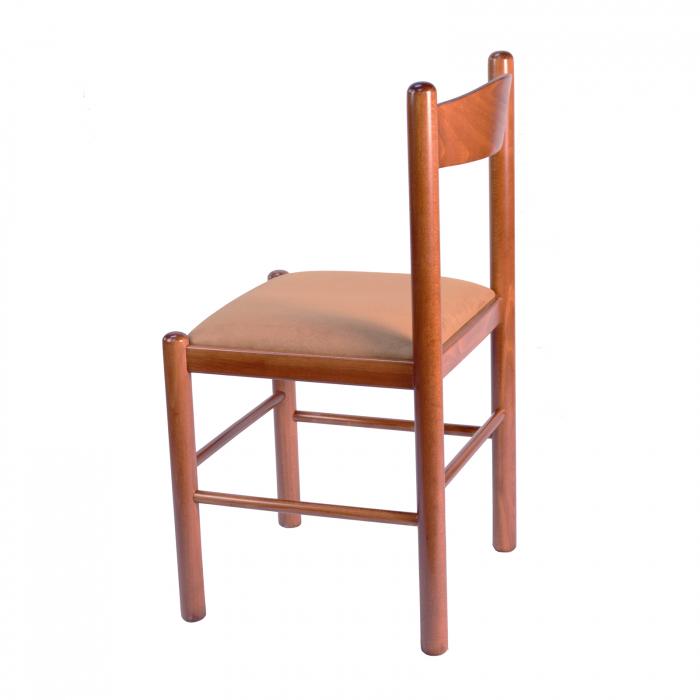 Scaun din lemn Toronto tapitat nuc [1]