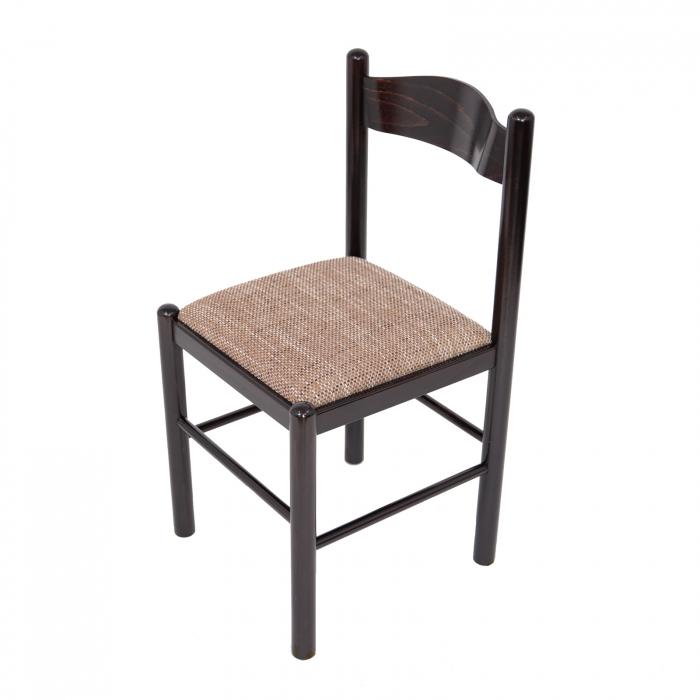 Scaun din lemn Toronto tapitat wenge [4]