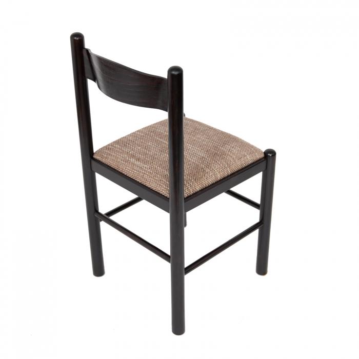 Scaun din lemn Toronto tapitat wenge [2]