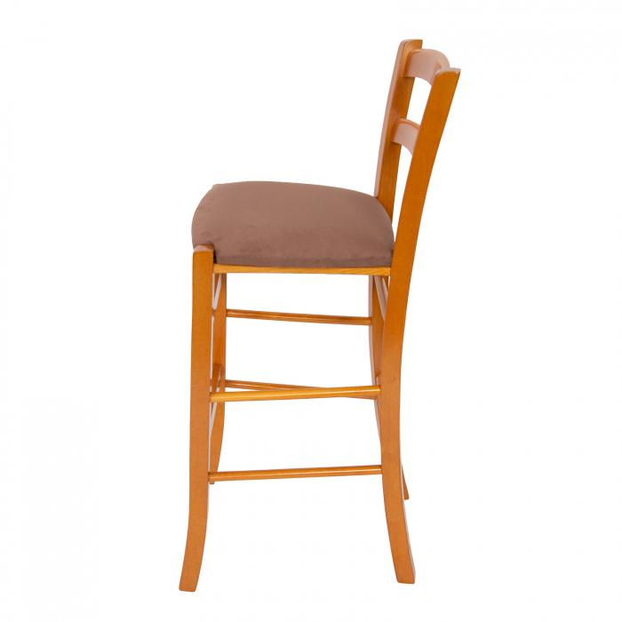 Scaun din lemn Venetia bar tapitat cires [4]