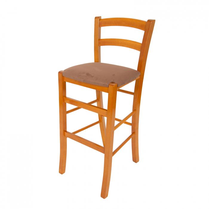 Scaun din lemn Venetia bar tapitat cires [6]