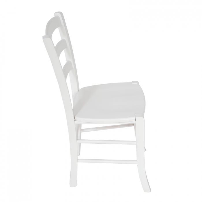 Scaun din lemn Venetia masiv alb [1]