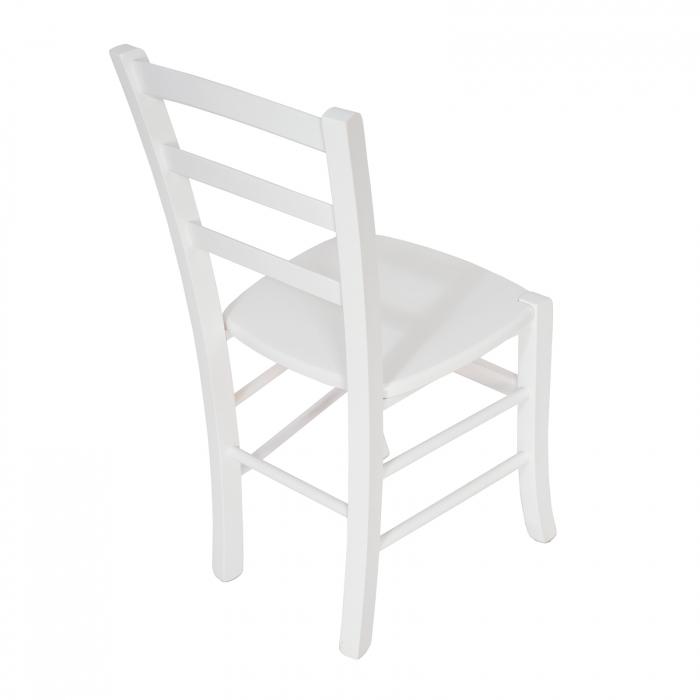 Scaun din lemn Venetia masiv alb [2]