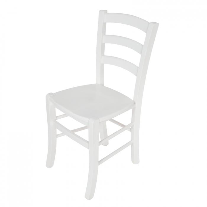 Scaun din lemn Venetia masiv alb [6]