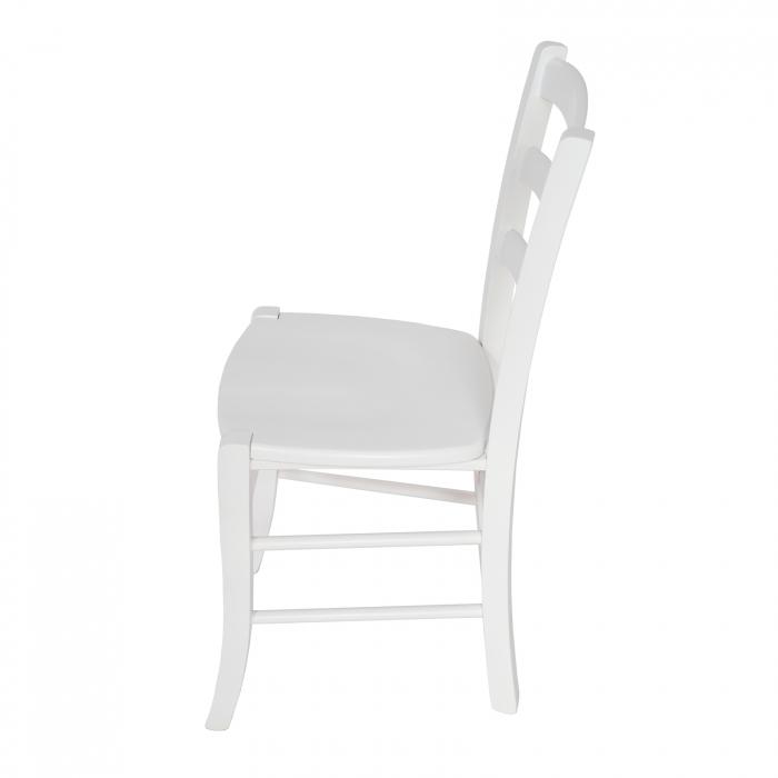 Scaun din lemn Venetia masiv alb [5]
