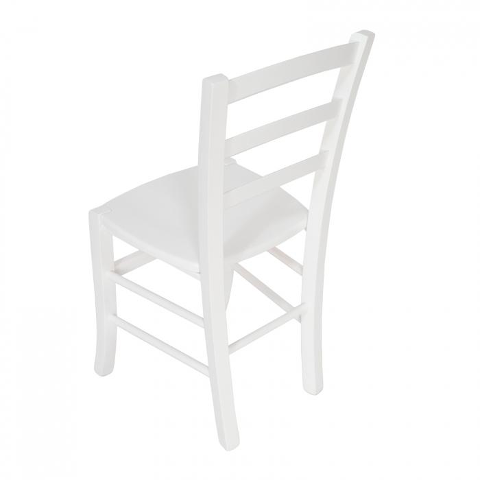 Scaun din lemn Venetia masiv alb [4]