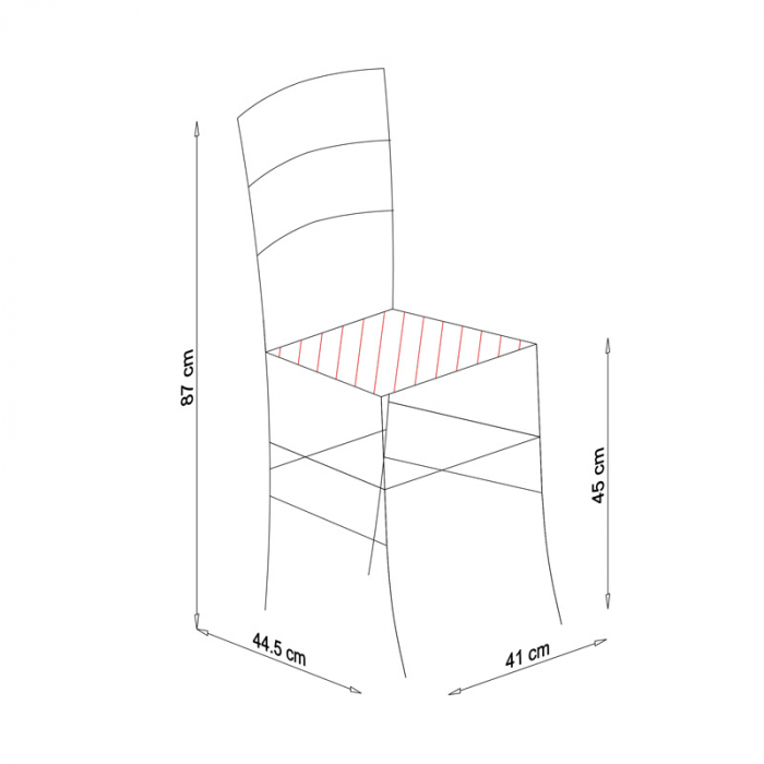 Scaun din lemn Venetia masiv nuc [7]