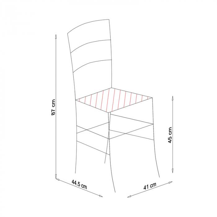 Scaun din lemn Venetia masiv alb [8]