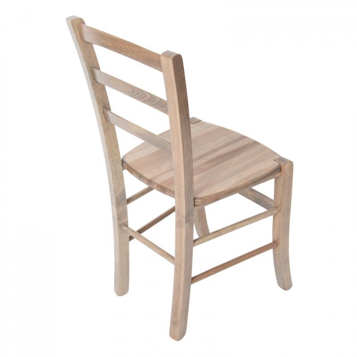 Scaun din lemn Venetia masiv maro-trufa [2]