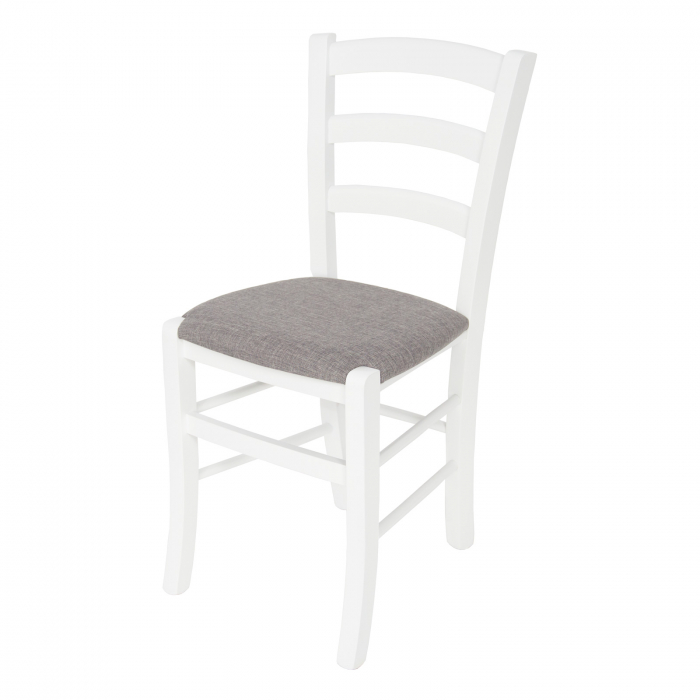 Scaun din lemn Venetia tapitat alb [6]