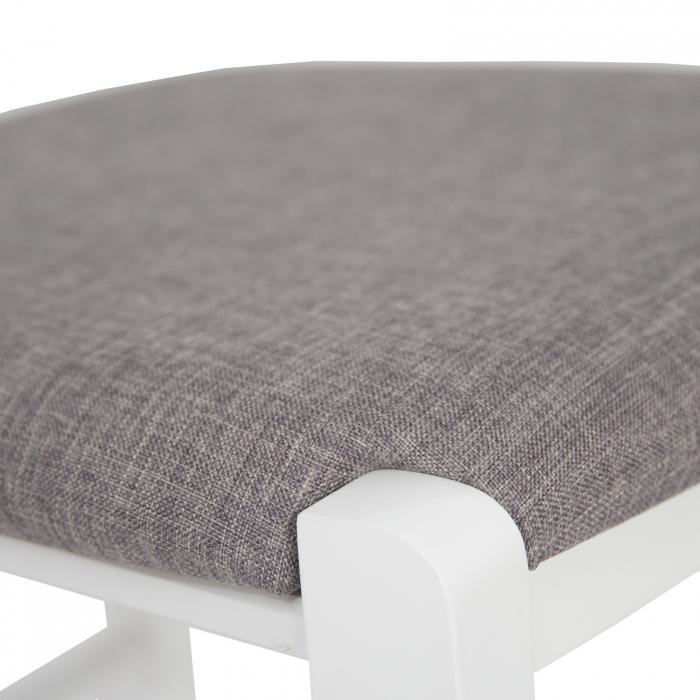 Scaun din lemn Venetia tapitat alb [8]