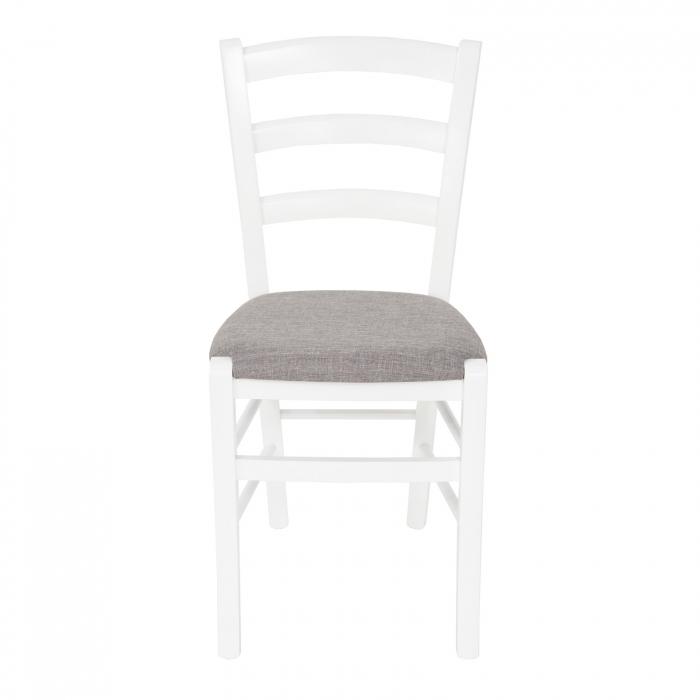 Scaun din lemn Venetia tapitat alb [7]