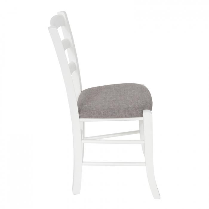 Scaun din lemn Venetia tapitat alb [1]