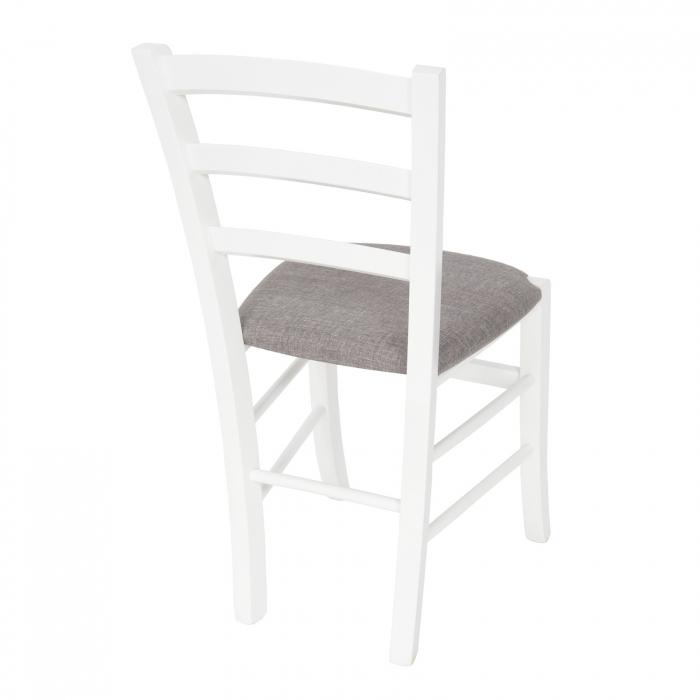 Scaun din lemn Venetia tapitat alb [2]