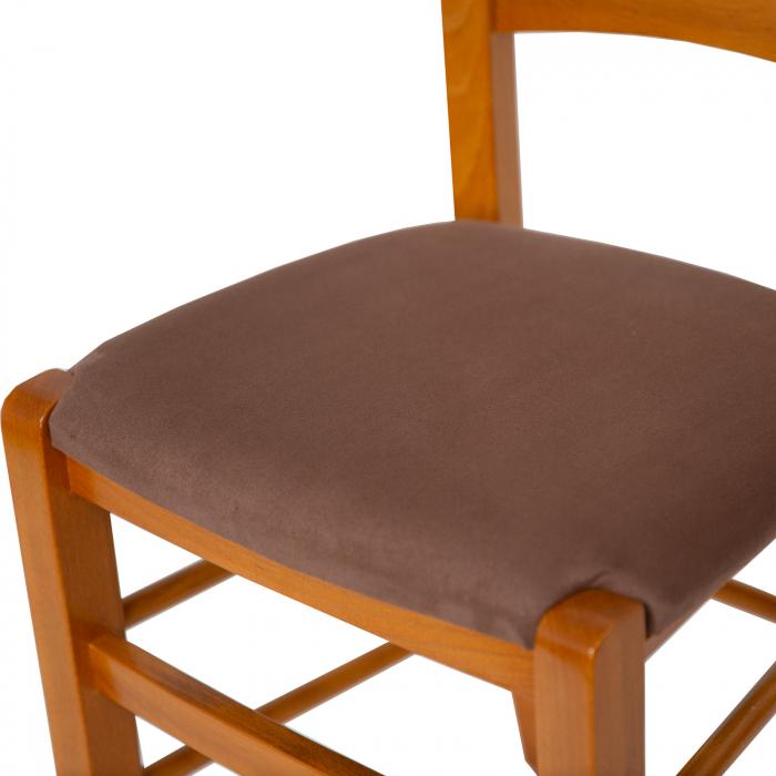 Scaun din lemn Venetia tapitat cires [6]