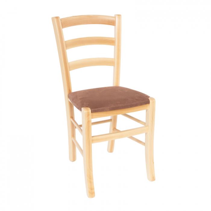 Scaun din lemn Venetia tapitat natur [0]